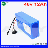 Wholesale Electric Scooter Bike Motor - Safe 48V 12Ah eBike Battery With 2A Charger Built-in 15A BMS For Electric Bike Motor 720W Scooter Lithium Battery 48V 18650