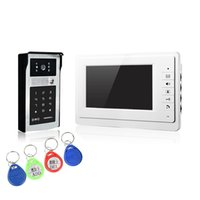 Wholesale Video Control Systems - XSL-V70F-IDS wired wired video doorbell the hot selling 7 inch color screens intercom system multi access control to unlock with 4 ID