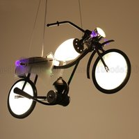 Wholesale Art Deco Clothing - BE44 Industrial Chandelier Creative Personality Motorcycle Children's Room Lights Boy Bedroom Clothing Store Restaurant Bar Pendant Lamps