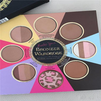 Wholesale Christmas Color Palettes - In Stock THE LITTLE BLACK BOOK OF BRONZERS Palette Bronzer Wardrobe Blush Cheek Highlighter Cosmestics Palette Christmas DHL Free 12pcs