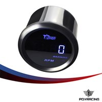 """Wholesale Rpm Racing - PQY RACING - tachometer 2"""" 52mm RPM Auto Gauge Digital tachometer auto parts car meter water joint (black) pipe PQY-TAG05-RPM"""