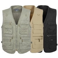 Wholesale Tactical Hunting Vests - PLUS SIZE XL-4XL 5XL tactical Vest Men New Arrival Multi-pockets Photography Cameraman Vest Gear Outdoor Hunting Jacket