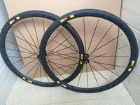 Wholesale 700C Carbon Wheels Clincher Tubular mm Carbon Road Bike Wheelsts with Powerway R13 R36 Ceramic Hub Bicycle Wheels