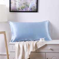 Atacado 100% Mulberry seda única fronha Pillowcase Charmeuse cetim Pillow Cover com Zipper, 1pc