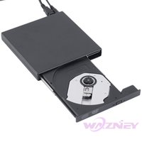 Wholesale Portable Dvd Rw Drive - Wholesale- 50set lot 2017 Newest USB 2.0 External DVD Combo DVD-RW CD-RW Burner Drive CD+-RW DVD ROM Black USB SLIM portable optical drive