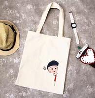 Wholesale Portable Flower Shop - 2017 new Korean all-match art canvas bags simple student bag portable single shoulder bag shopping bag