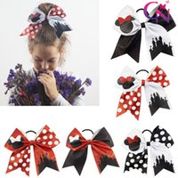 """Wholesale Sequin Elastic Wholesale - 8"""" Fashion Handmade Sequin Bling Cheer Bows for Girl Children Kids Boutique Sequin Hair Accessories with Elastic"""