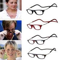 Wholesale Wholesale Folding Frames - Folding Magnetic Reading Glasses With Diopter +1.0 +1.5 +2.0 +2.5 +3.0 +3.5 +4.0 Men Women Spectacles Old People 5 colors YYA643