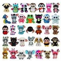 Wholesale Ty Stuffed Animal Unicorn - Ty Beanie Boos Big Eyes Small Unicorn Plush Toy Doll Kawaii Stuffed Animals for Children's Toy Christmas Gifts CCA5670 50pcs