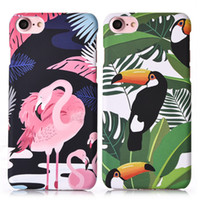 Wholesale Pouch Hard Shell Case - For iphone 6s 6splus 7 plus Hard PC Protective Back Case Fashion Flamingo Drawing Painting Shell for iphone 6s 7 plus