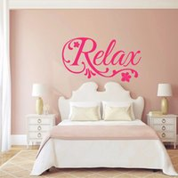 Relax Swirls Flower Decal Art Vinile Wall Sticker Home Decor - Salone di bellezza Spa, Camera da letto, bagno Decorazione murale 3 dimensioni