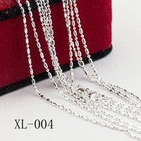 Atacado 5PCS 18 a 30 polegadas Bamboo Beads Ball Cintura Buckle Cadeias Colar Mulheres Moda 925 Sterling Silver Necklaces Jewelry
