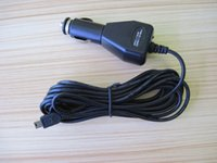 akülü arabalar toptan satış-Toptan-50 adet 3.5 m Evrensel 5 V 1A Mini USB Şarj Adaptörü Navigasyon GPS için Araç Akü Şarj Güç Dönüştürücü