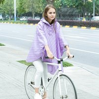 Wholesale Poncho Raincoat Bicycle - Free shipping Fashion Women pure and fresh Riding Raincoat Poncho Portable Light Raincoat NOT Disposable Rain Coat For Adult