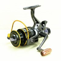 Wholesale Drag Reels - Hlq Fishing Reel Fishing Spinning Reel 5.2:1 10+1BB Double Drag Carp Feeder Fishing Reel Wheel Free Shipping