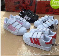 Wholesale Hot Sale Kids Summer - Hot Sale Skateboarding Shoes baby Casual Shoes Superstar Female Sneakers kids Zapatillas Deportivas Mujer Lovers Sapatos Femininos