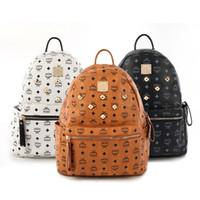 Wholesale Brand Leather Handbags Men - Fashion Luxury Brand Backpack Style PU Leather High Quality New Arrival Designer Backpack Bags Fashion Women Men School Bags handbag