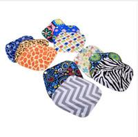Wholesale Sanitary Cloth Pads - New hot sale 10 Patterns 20 x 18cm Women Feminine Hygiene Reusable Washable Panty Liner Bamboo Cloth Mama Menstrual Sanitary Nappy Towel Pad