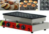 Wholesale Waffles Baker - Free Shipping 100 Pcs Commercial 110v 220v Pancakes Maker Non-stick Poffertjes Maker Machine Waffle Baker Poffertjes Grill LFA