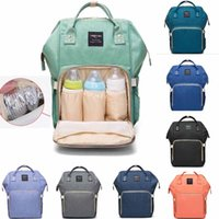 Wholesale Diaper Mummy Bags - Mummy Maternity Nappy Bag Large Capacity Baby Bag Travel Backpack Desiger Nursing Bag for Baby Care Diaper Bags mini order 32 pcs