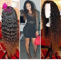 Wholesale Wigs For Women Malaysia - Fashion 180%density ombre u part wigs malaysia remy curly upart wig two tone human hair u shaped wigs for black women freeship