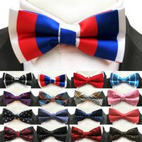 Wholesale Wholesale Luxury Prom - Men Bow Ties Luxury Wedding Formal Cravat British Style Gentleman England Man Neck Tie Suit Fashion Prom Accessories Retro Necktie