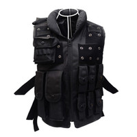 Wholesale Tactical Hunting Vests - Brand Tactical Vest 600D Oxford CS Airsoft Paintball Wargame Swat Police Outdoor Vests Hunting Protective Black Vest for Men