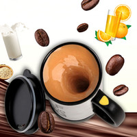 Wholesale Automatic Tea - Premium Leakproof Self Stirring Coffee Mugs Electric Stainless Steel Automatic Travel Mug Auto Mixing Tea Coffee Personalized Coffee Mugs