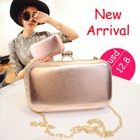 Wholesale Metal Handbag Frames - New Designed Brand Candy Box Bag Metal Frame Summer Perfume Stylish Evening Bags Handbag Chain Bag Cute Ladies Banquet Purse - GH6