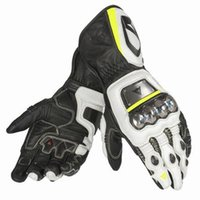 Wholesale Motorcycle Racing Leather Black - Hot seller GUA. FULL METAL RS Racing Gloves 100% high quality Leather motorcycle motorbike Riding gloves M L XL Free shipping