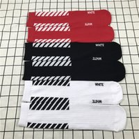 Wholesale Wholesale Mens Tube Socks - Mens stockings New Tide ulzzang Harajuku skateboard socks OF WHITE Dead fly Tube socks Men and women models