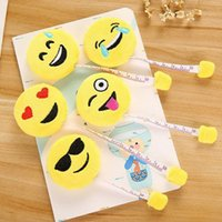 Wholesale Cute Tape Measures - Kawaii Mini Emoji Measure Tape Cute Portable Plush Ruler Measuring Tool For Kids Children Party Gift Souvenirs ZA3547
