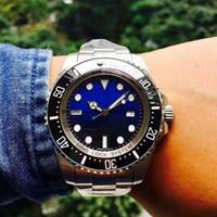 ingrosso orologi da immersione in acciaio inox-Orologio da uomo in oro bianco con cinturino in acciaio inossidabile da 42mm, orologio da uomo in acciaio inossidabile con quadrante nero