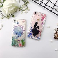 Wholesale Alice Iphone - For iphone 7 Soft TPU painting case fashion cartoon Alice and cat cell phone cases ultra thin back cover shell for iphone 6S 7 Plus