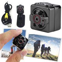 Wholesale Digital Camera Smallest - HD 1080P Sport Spy Mini Camera SQ8 Mini DV Voice Video Recorder Infrared Night Vision 720P Digital Small Cam Hidden Camcorder