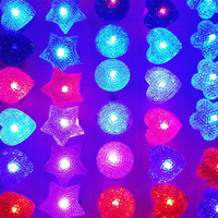 Wholesale Light Up Flashing Finger Rings - LED Light Up Flashing Finger Ring Glow Party Favors Glow Kids Toys Flashing Laser Rings Raves Neon Glow Lamps