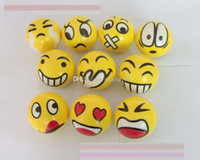 Wholesale Wholesale Ems - New FUN Emoji Face Squeeze Balls Stress Relax Emotional Toy Balls Fun balls EMS shipping E1789