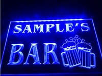 Wholesale Bar Restaurant Names - tm08 Name Personalized Custom 2 size Home Bar Beer Mugs Cheers Neon Sign hang sign home decor crafts