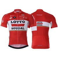 Wholesale Lotto Jersey - 2017 Men Racing Suit sets 2016 team lotto cycling clothing maillot ciclismo Short Sleeves Ropa ciclismo hombre MTB bike jersey+BIB Shorts 1