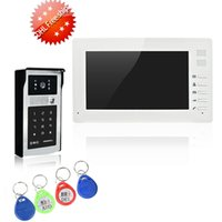 Wholesale Door Access Control Video Systems - Quality villa wired video door phone 7 inch 1024*600 1000 line camera access control and intercom system
