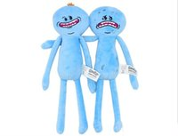 Wholesale Rick and Morty Soft Dolls cm Styles Happy Sad Angry Plush Stuffed Doll Plush Toy Kids Cartoon Good Toys Gift Q0655