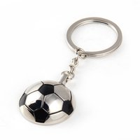 Wholesale Wholesale Football Key Chain - New Arrival Metal Sports Soccer Football Men's Novelty Trinket Keychain Keyrings - Alloy Key Chain Car Key Ring Funny Gifts