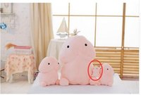 Wholesale Toys Stick Penis - 20pcs 10cm Mini Kawaii Japanese Mochi squeeze Plush doll mini penis Mug Venting dingding Japan animal seal cat Squishy