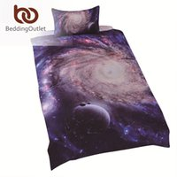 Wholesale Twin Comforter Pink Red - Wholesale- Hot Amazing Galaxy Bedding Solid Navy Blue Comforter Close to Nature Duvet Cover Twin Single Full Bedding Queen Size