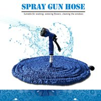 Wholesale Hose Spray Blue - Top Selling 50FT Garden Hose Expandable Magic Watering Hoses Garden Water Pipe With Spray Gun Drip Irrigation Mangueira