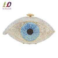день чернокожих женщин  оптовых-Wholesale- Stylish Devil eye Women Handbag  Diamond Evening Bag Lady Party Purse Cocktail banquet Bag Golden Black Day Clutches 88160