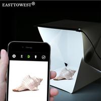 Wholesale digital studios resale online - Easttowest Folding Photography Studio Box lightbox Softbox LED Light box for iPhone Samsang HTC Smartphone Digital DSLR Camera