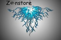 Wholesale Aqua Led - Aqua Eagle Chandelier- 100% Mouth Blown Borosilicate Murano Glass Dale Chihuly Art New Style Light Home Made Chandelier