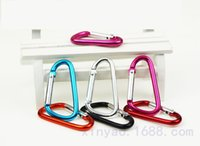 6 # Liga de alumínio B D-ring Snap Spring Hook Carabiner Lock Clip Keychain Escalada Backpack 7 Color