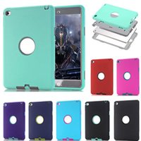Wholesale Hard Rubber Case Ipad Mini - 3 in 1 Defender Robot Heavy Duty Shockproof Soft Silicone Rubber Hard PC Cover Case For New iPad 2017 Pro 9.7 2 3 4 5 6 Air Air2 Mini Mini4